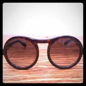 Chloé Marlow round aviator sunglasses Tortoise